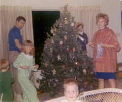 The Smith Family with the Forsbergs, Christmas 1968