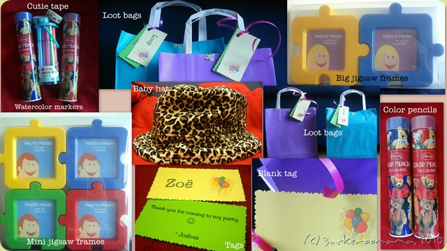 Collage - loot bags