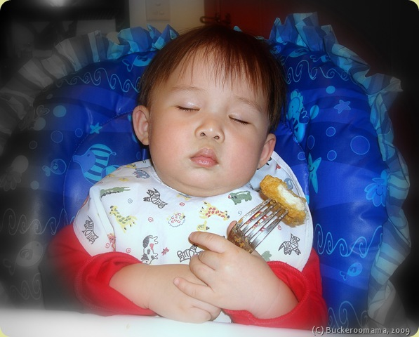 Josh asleep with cx nugget