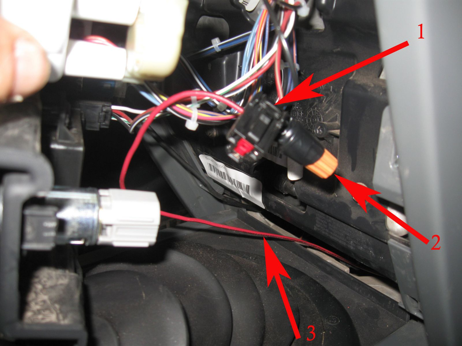 Project Blue Bruin Auxiliary Fuse Block Wire Harness Splice I Ran 14 Back Through The Dash And Into Engine Compartment To Relay 1 Wiring 2 Nut 3 From