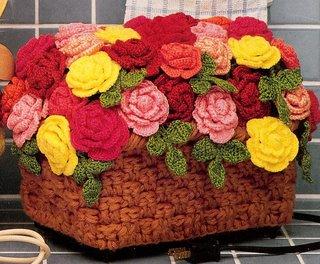 Вязаные модели с розами (вязание спицами и крючком. вязаные розы.