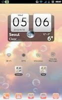 Screenshot of Bubbles Apex,GO launcher Theme