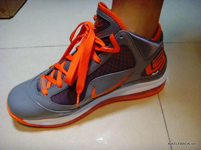 Nike Max Lebron 7 VII Cool Grey Orange