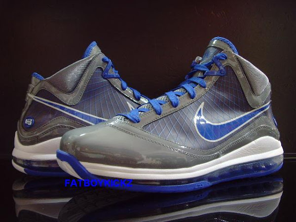 LeBron VII GreyRoyal New Pics 8220Cool Grey8221 Pack Coming in March