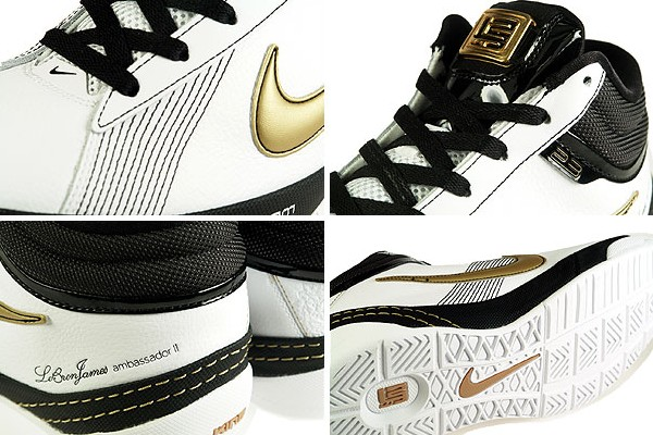 Recently Released Zoom LBJ Ambassador II WhiteBlackGold