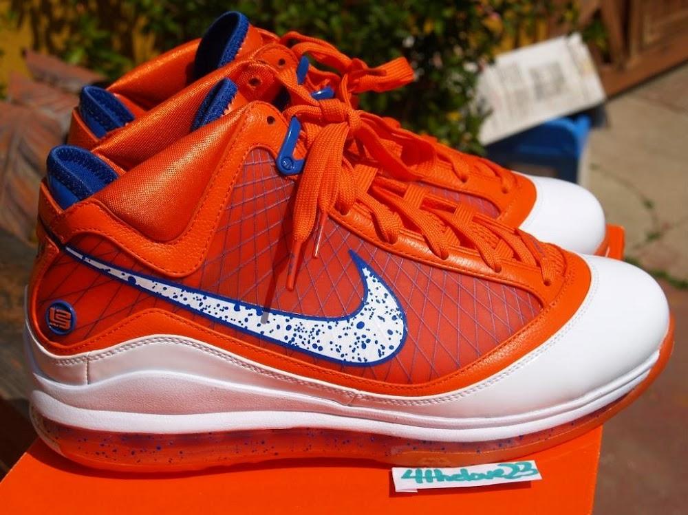 154a7d9f5e3 Nike Air Max LeBron VII Hardwood Classic Orange PE New Images