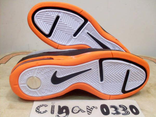 Nike Air Max LeBron VII Low Wolf GreyTotal OrangeWhite Sample