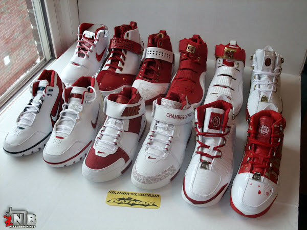 SHADOWFINDER3138217s Nike Zoom LeBron White and Red Team