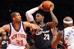 lebron james nba 090204 cle at nyc 26 Not Kobe. Not Jordan. LeBron Does Things Own Way with a 50 point Triple Double!