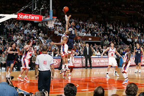 lebron james nba 090204 cle at nyc 28 Not Kobe. Not Jordan. LeBron Does Things Own Way with a 50 point Triple Double!