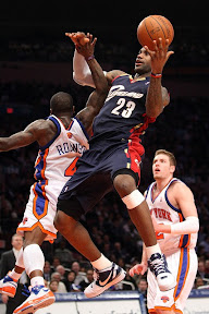 lebron james nba 090204 cle at nyc 09 Not Kobe. Not Jordan. LeBron Does Things Own Way with a 50 point Triple Double!