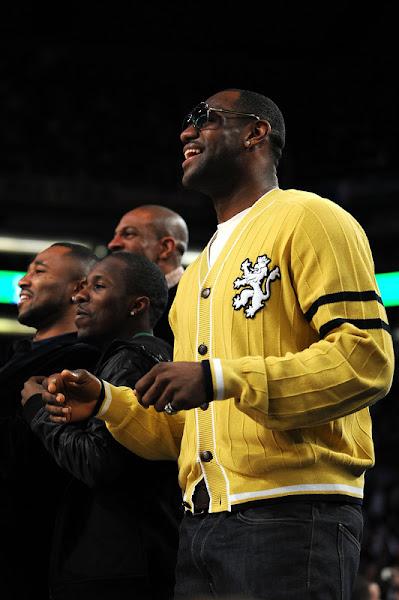 LeBron James Rocking the Akron Six During 2009 NBA AllStar Festivities