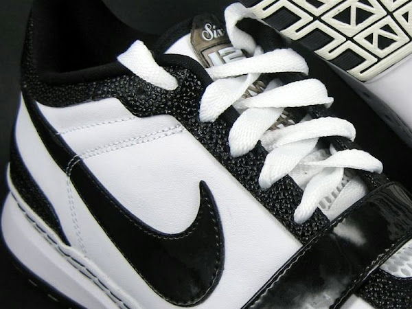 Nike Zoom LeBron VI 6 Low Black and White Actual Photos