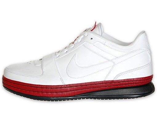 Nike Zoom LeBron VI Low WhiteVarsity RedBlack Available at Finishline