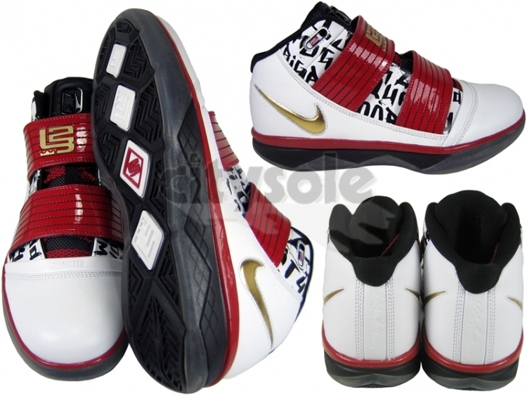 Fresh New Soldier III 8211 WhiteMetallic GoldVarsity RedBlack