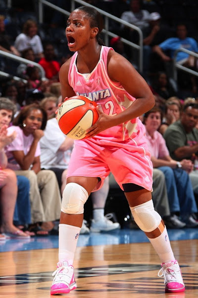 Wearing Brons 8211 Think Pink with Atlanta Dream and Soldier III
