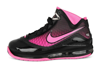 nike air max lebron 7 gs pink fire 1 01 Nike Air Max LeBron VII GS Black / Pink Fire (Kids Only!)
