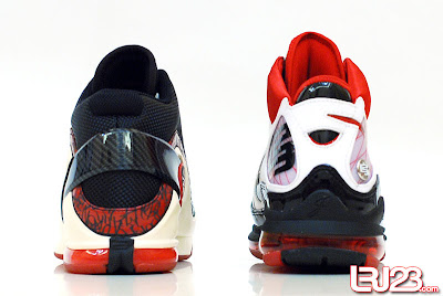 nike air max lebron 7 gr black red white 12 back6 1 2 3 4 5 6 7: Nike LeBron Series Round Up / Comparison