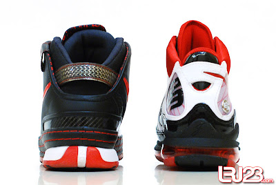 nike air max lebron 7 gr black red white 12 back7 1 2 3 4 5 6 7: Nike LeBron Series Round Up / Comparison