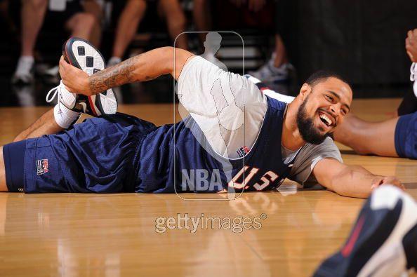 Wearing Brons 8211 Tyson Chandler8217s Soldier III USA Basketball PE