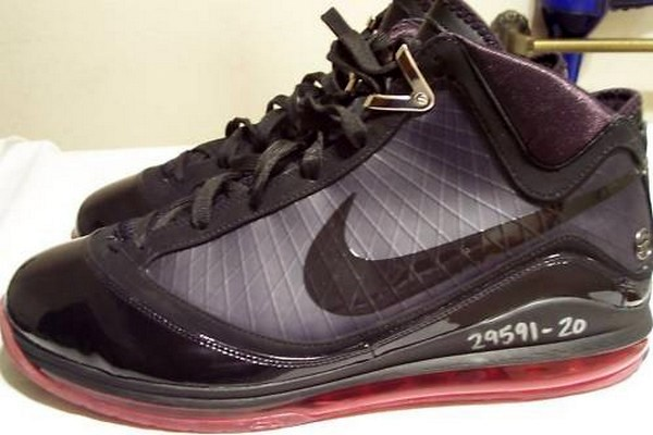 nike air max lebron vii 7 blackred quotquot unreleased wear