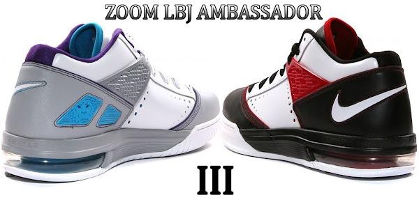 Zoom LBJ Ambassador III 8211 BlackWhiteRed amp GreyBluePurple