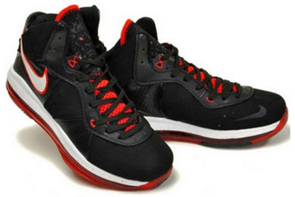 Nike Air Max LeBron VIII BlackWhiteRed Official Release Date