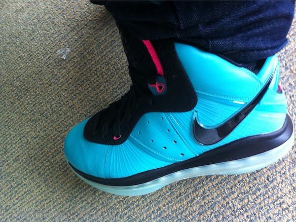 Nike LeBron 8 Miami 8220PreHeat8221  8220Miami Vice8221 Actual Photo