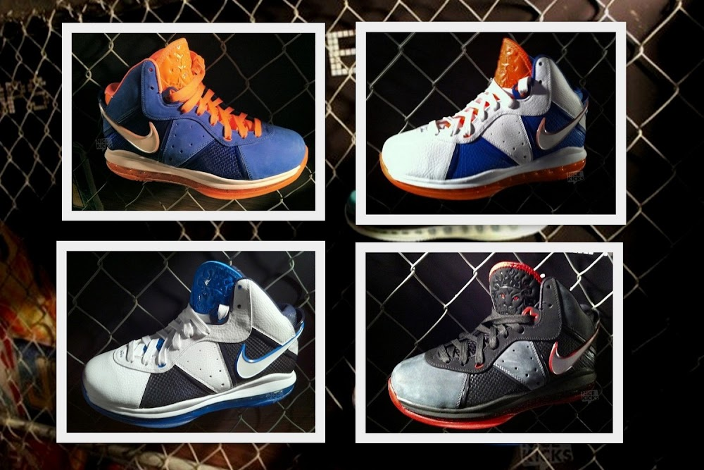 Nike LeBron 8 New York x 2 Charcoal White amp Blue and More ... 1a4bb3920