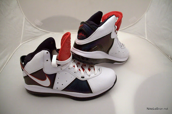 Nike Air Max LeBron VIII 8 USAB WhiteNavyRed Actual Photos