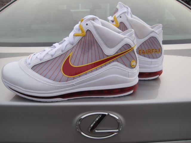 ... Nike Air Max LeBron VII 7 Fairfax Lions Home amp Away PEs ...