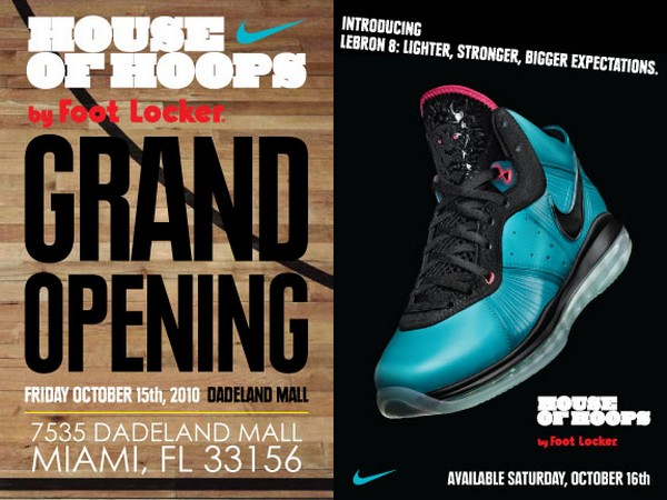 e7cf6fa913d9 James to Debut LeBron 8 8220South Beach8221 at House of Hoops Miami