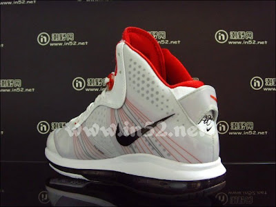 nike air max lebron 8 v2 white black red 2 05 Nike LeBron 8 V/2 Flywire   White/Grey/Varsity Red   New Photos