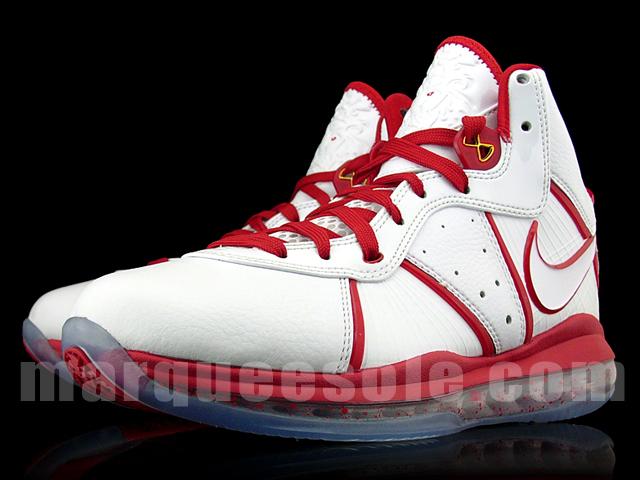 premium selection f2a03 d1b75 ... Nike Air Max LeBron 8 8211 White amp Red China Alternate Miami Heat ...