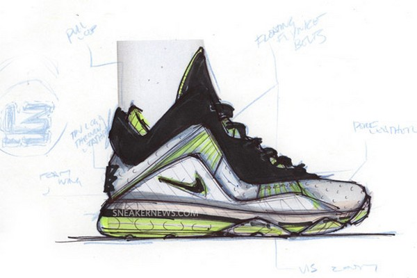 Interview with Jason Petrie Nike LeBron 8 Design Sketches