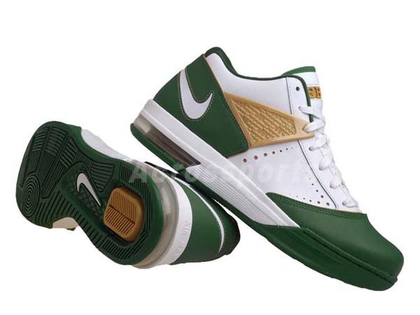 Nike Zoom LBJ Ambassador III 3 WhiteGreenGold 8220SVSM8221