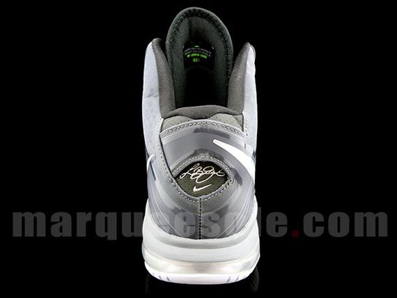 Nike LeBron 8 V2 8211 BlackGreyWhiteNeon 8211 Actual Photos