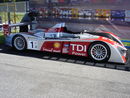 Audi R10 TDI on display,