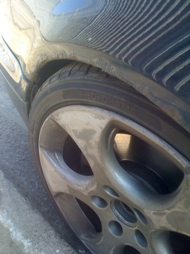 Bad rusty arch top