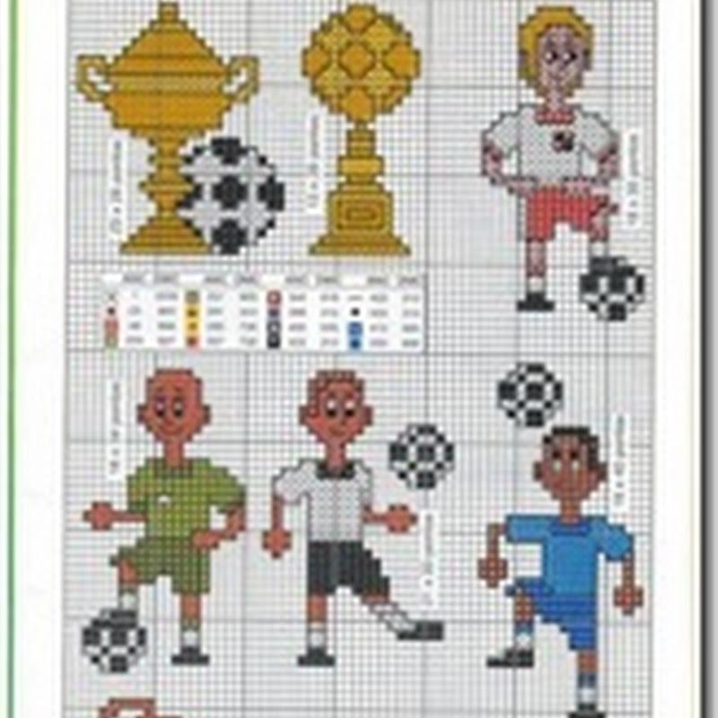 Abecedario Futbol en punto de cruz