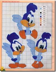 Patrones Looney Tunes En Punto De Cruz  Moldes Y Patrones En Punto