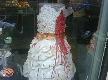 halloween dress cake blood