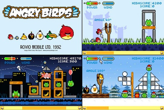 Retro Version of Angry Birds From 1992