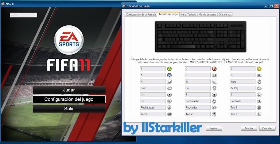 Configuración del teclado en FIFA 2011 PC