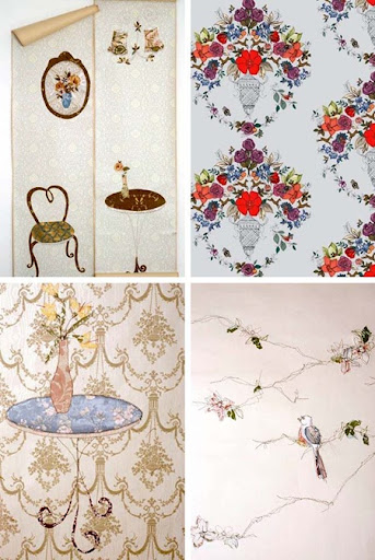 wedding vintage wallpaper project