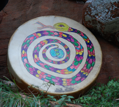 DSC_0031 bololokan snake drum made by eileen nauman in june 2010  west fork oak creek canyon sedona az.jpg