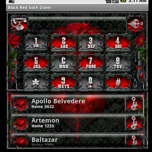 黑色紅色哥特撥號 個人化 App LOGO-APP試玩