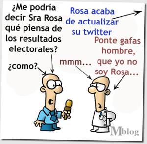 rosa y twitter