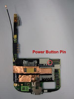 Google Nexus One power button connector