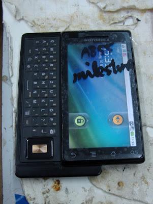 Собираем Motorola Milestone  после ремонта по замене экрана